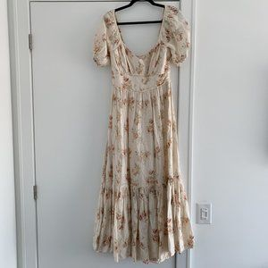 LoveShackFancy Linen Angie Dress - Size 2 / Small